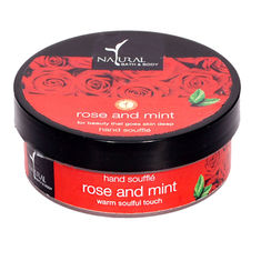 Image result for natural bath and body rose and mint hand souffle