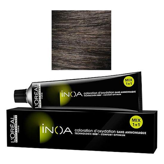 loreal professionnel inoa 5 light brown 60 g ammonia free permanent color - Coloration Tigi