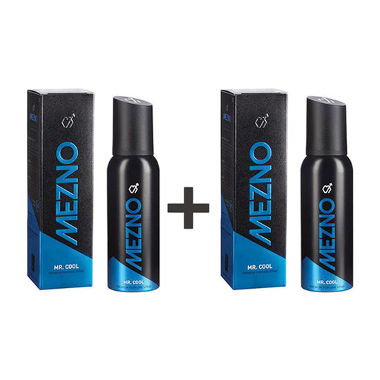 Mezno Mr. Cool - Fresh Active Fragrance Deodorant Body Spray For Men - 24 Hrs Fresh Power - No Gas Deo - (120 Ml)  (Buy 1 Get 1 Free )