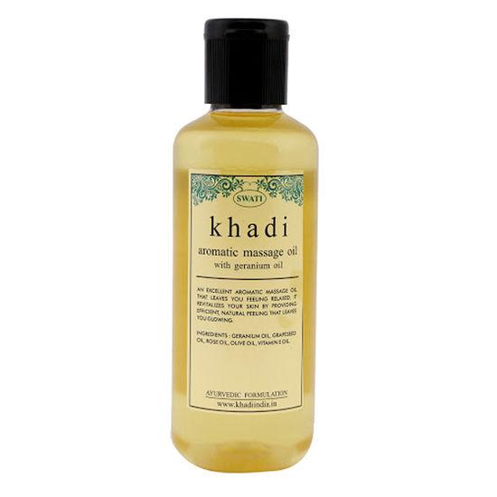 Khadi Aromatic Massage Oil With Geranium Oil (210 Ml) By Swati Gramodyog
